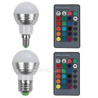 E27/E14 LED RGB Bulb Lamp AC110V 220V 5W LED RGB Spot Light Remote Light   E0Xc