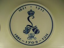 Antiker Meissen Porzellan Regiments Wand Teller 1 WK 1821 - 1911