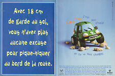 Publicité Advertising 1998  (Double page)  RENAULT KANGOO PAMPA