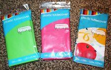 "Plastic Tablecover - 54"" x 108"" Rectangular - Pick your Color - NIP"
