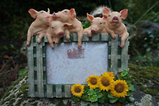 NA0846  CADRE PHOTO  FIGURINE  STATUETTE FAMILLE  COCHON  PROMO