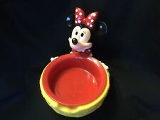 New listing Vintage Minnie Mouse Water/Food Bowl Collectible By Applause