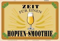 Hopfen Smoothie Bier Blechschild Schild gewölbt Metal Tin Sign 20 x 30 cm