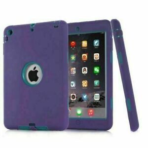Heavy Duty 3 Layer Shockproof Hybrid Defender Case Cover For iPad Mini 1/2/3 Gen