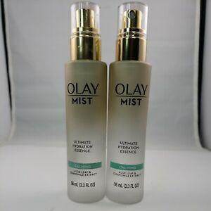 Olay Mist Ultimate Hydration Essence CALMING Face Mist 3.3 fl. oz. Lot of 2