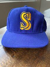 Vtg 80's 90's Seattle Mariners New Era MLB Hat Cap Size 7 3/8 Diamond Griffey