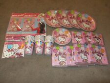 Hello Kitty Girls Birthday Party Bundle Decorations - 18 pieces