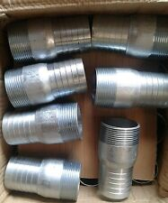 "1.5"" Zinc Plated Steel Hose Adapter Hose Barb Shank x MNPT Fitting Male 1-1/2"""