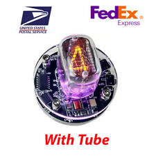 Single Nixie Clock IN-12 With Tube RGB Backlight Assembled *24h format*