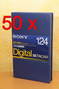 50 x Sony BCT-D124L Digital Betacam Cassette Kassette Metal Tape Black Coated