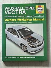 Haynes Manual 4887 - Vauxhall/Opel Vectra, 2005 to 2008, petrol & diesel