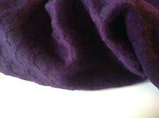 "NEW Purple / black Designer reversible Wool Boucle fabric coat jacket 58"" 148cm"