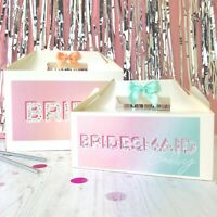 PERSONALISED HEN PARTY GIFT BOX | OMBRE GLITTER  | BRIDE HEN NIGHT FAVOUR BAG