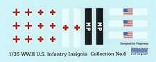 1/35 WWII U.S. INFANTRY INSIGNIA DECAL COLLECTION No.6