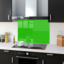 Shades of Light Green Toughened Glass Kitchen Splashback Panels Any Size & Color