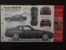 1995 PORSCHE 968 Club Sport IMP Hot Cars Spec Sheet Folder Brochure RARE