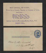 1912 UNITY LECTURES NEW THOUGHT SCIENCE OF LIFE BILLINGS MT US POSTAL CARD UX22