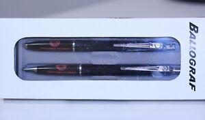 vtg BALLOGRAF EPOCA blk BALLPOINT PEN mechanical pencil w/box advertising Sweden