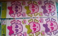 Girls theme skull crossbone pink purple lime  Wall Sticker Walll decorWALL WORD