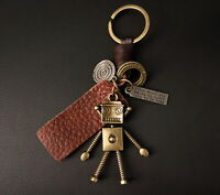 AuPra  Alien Keyring  | Leather Vintage Keychain | Key ring Pendant Gifts