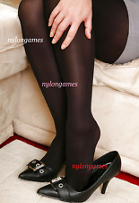 Mon Joli collant opaque noir My sweet opaque black pantyhose