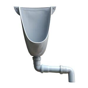 Agande Urinal Kunststoff PVC , einfach und wasserlos mit Abflussrohr
