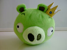 "Angry Birds Plush King Pig Crown Stuffed Animal Bird Toy Bad Piggies 5"" Green"