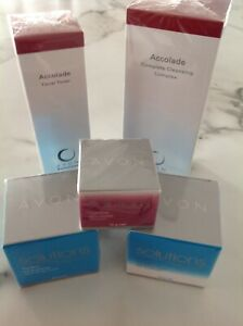 Avon 5pce Solutions Set - Cleanser, Toner, Day, Night and Eye Cream - New/Sealed