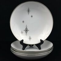 "Set of 4 VTG Soup Bowls 7 1/4"" by Noritake China STELLA Starbursts 6602 Japan"