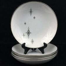 VTG Set of 4 Coup Soup Bowls Noritake China STELLA 6602 Mid-Century Modern Japan