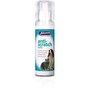 JOHNSONS ANTI SCRATCH SPRAY DOGS CATS SOOTHES ITCHING - FLEA BITES 100ML