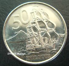 NEW ZEALAND QE 50 CENTS 2009 COIN