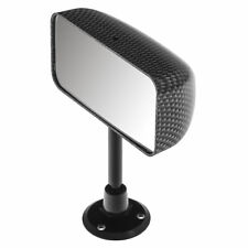Rear view Mirror Convex glass Dash mounted Carbon fibre effect Universal NEW