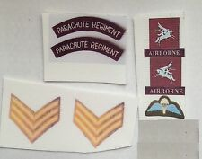 Échelle 1/6 ww2 British Airborne Parachute Regiment après 1944/45 insignes patchs