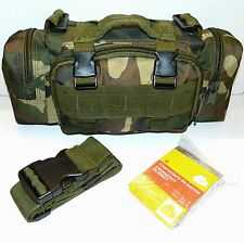 Molle Military Tactical Utility Pouch Pack & Emergency Insulation Mylar Blanket