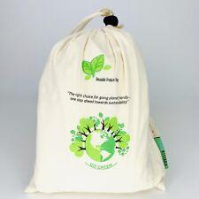 Organic Reusable Produce Bags 11 Piece Set 5 Organic Cotton 5 Mesh +cotton Carry