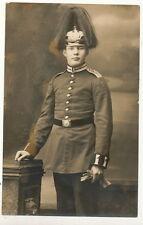 Foto AK - Soldat mit Pickelhaube Eisenbahn Regiment - Hanau