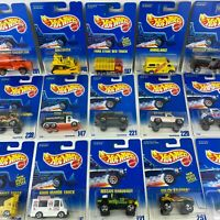 1991 Hot Wheels Main Line Blue & White Card YOU PICK - 1990's Vintage Toys