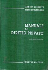 S35 Manuale di diritto privato Andrea Torrente Piero Schlesinger Giuffrè 1999