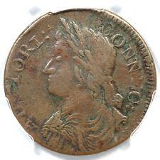 1787 29.2-o R-5 PCGS XF Det Draped Bust Left Connecticut Colonial Copper Coin