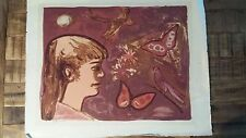 Arthur Flory Lithograph - CYNTHIA'S WORLD - Signed & Dated - 1956/Edition of 20
