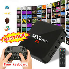Free Keyboard MXQ Pro S905X 4K Smart TV BOX Android  Quad Core Media Player AU
