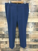 New Old Navy Women's Harper Navy Flat Front Mid Rise Dress Pants Size 14.