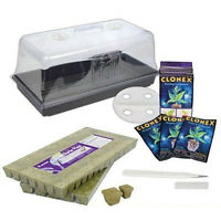 "Large Cloning Kit - Clonex 15ml, 7"" Dome, 10 x 20 Tray, Scalpel + Grodan 1.5"""