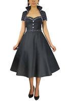 Plus Size Retro 50's Black Polka Dot Rockabilly Flare Dress w Shrug 1X 2X 3X 4X
