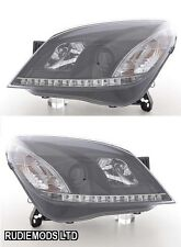 Vauxhall Astra H Mk5 2004 on Black R8 LED projector Headlights 1 PAIR
