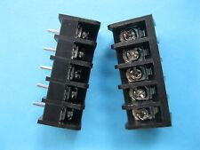 50 pcs Black 5 pin 8.25mm Screw Terminal Block Connector Barrier Type DC39B New
