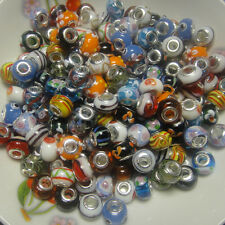 100 pcs Murano glass Beads Fit European Charm Bracelet