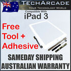 iPad 3 3rd Gen White 3G Wifi Touch Screen Panel Glass Digitizer + Tools Adhesive