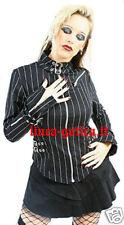 camicia gessata dark gothic goth emo lolita punk rock